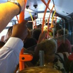 Super crowded bus in Geneva